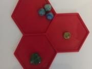 Лоток-органайзер для бисера, 3 ячейки